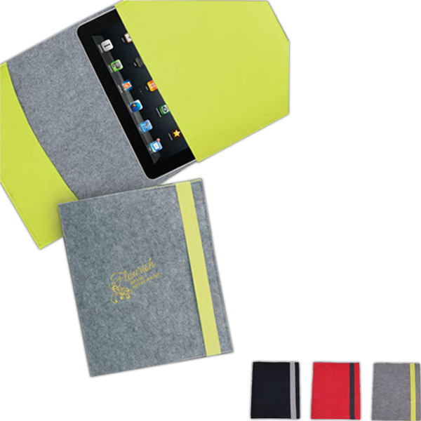 Imprinted Felt Tablet Folder