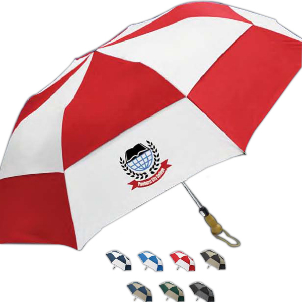 Printed Traveler Deluxe Auto Open Folding Umbrella