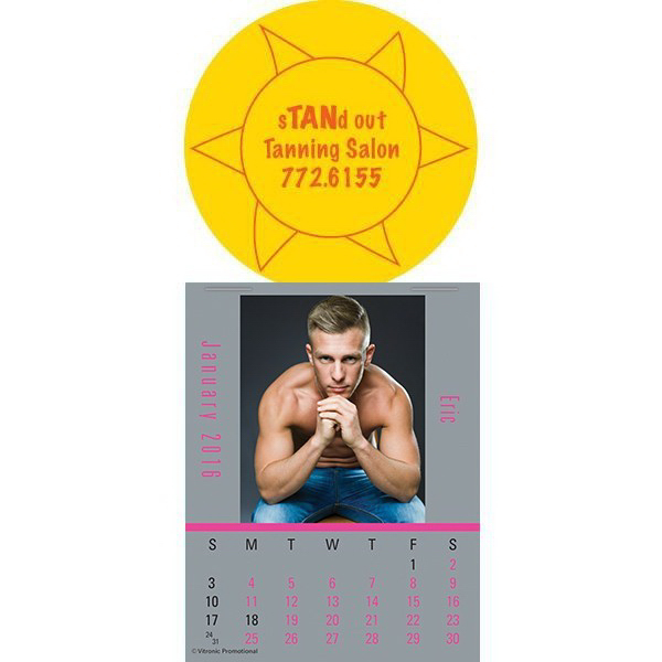 Custom Super-Size Male Call Press-N-Stick Calendar