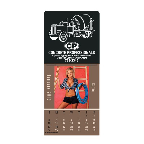 Imprinted Super-Size Built In The USA Press-N-Stick Calendar