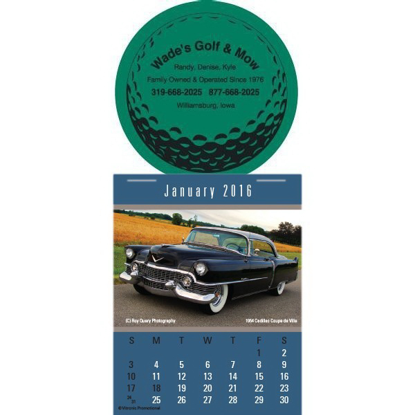 Custom Super-Size Cruisin' Cars Press-N-Stick Calendar
