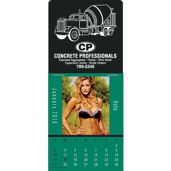 Personalized Super-Size Maiden America Press-N-Stick Calendar