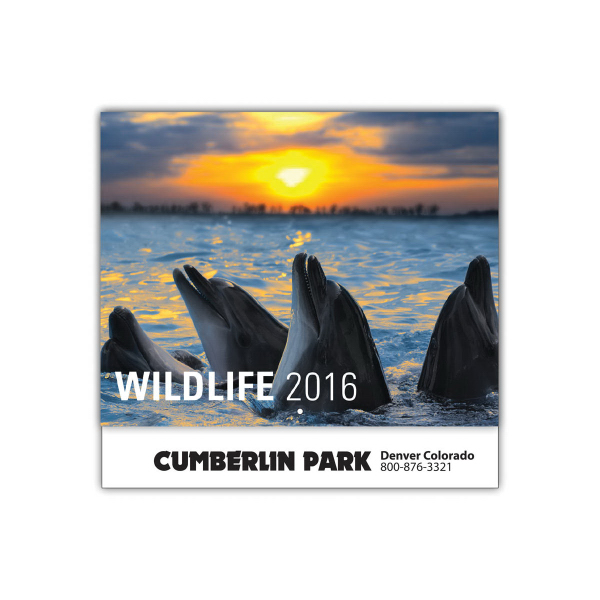 Personalized Wildlife 13-Month Wall Calendar
