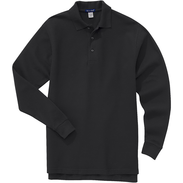 Printed Men's Long-Sleeve Easy Care Polo