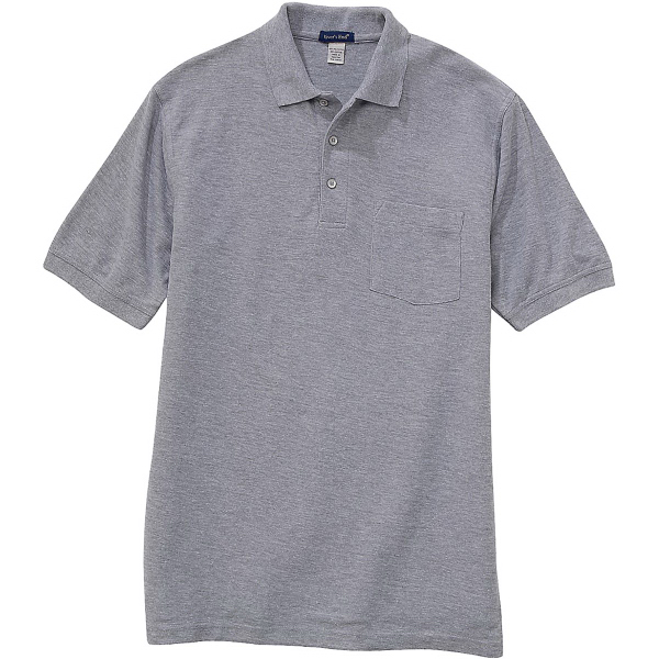 Custom Men's Short-Sleeve Polo with Pocket