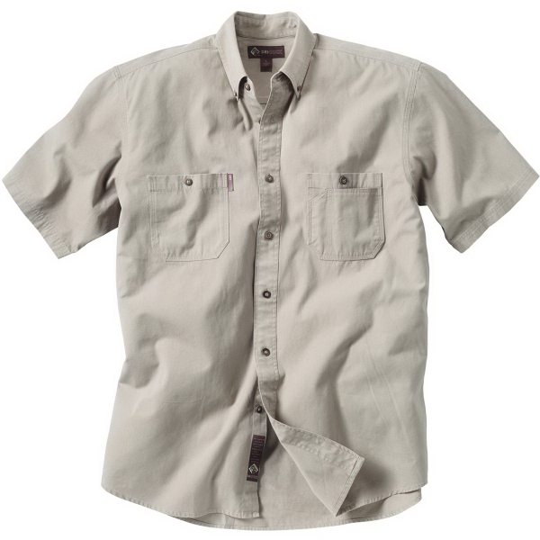 Custom Men's Short Sleeve Brick Sawtooth Shirt