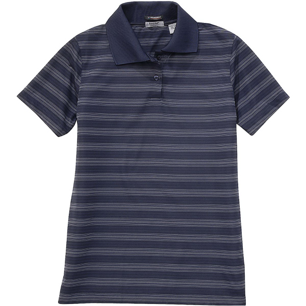 Imprinted Ladies' Jacquard Stripe Polo