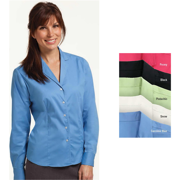 Printed Ladies' Easy Care Stretch Shirt