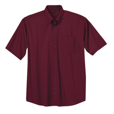 Printed Men's Short Sleeve Easy Care Shirt