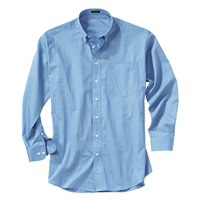 Customized Men's Check Poplin Shirt