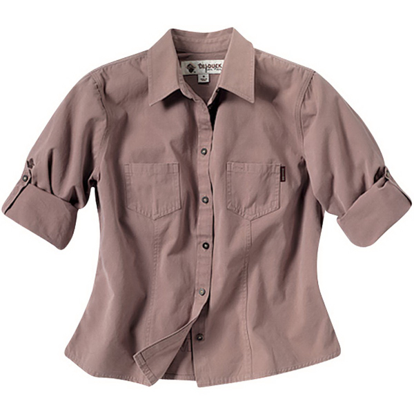 Imprinted Ladies' Mortar Sawtooth Shirt
