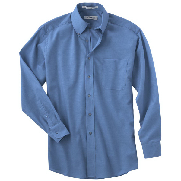 Imprinted Men's Long Sleeve Solid Oxford Sport Shirt