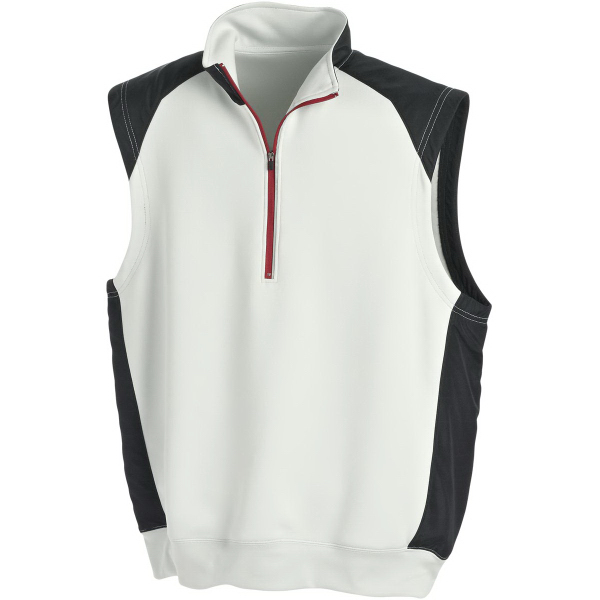 Personalized Page & Tuttle (R) Men's Half-zip Interlock Tech Vest