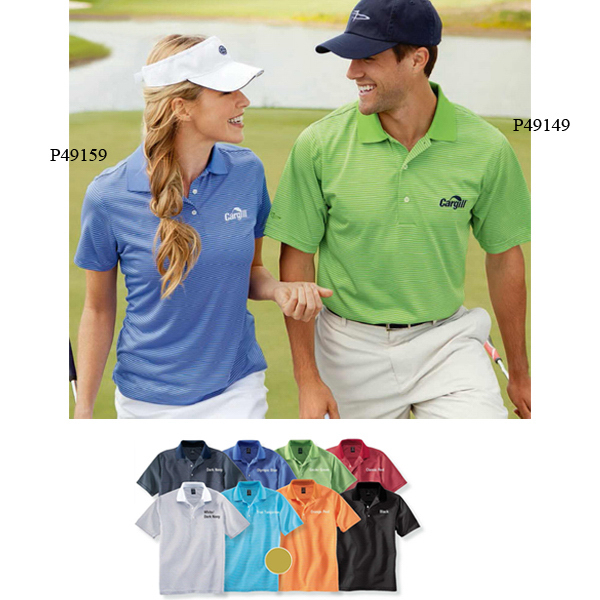 Printed Page & Tuttle Ladies' Cool Swing (R) Pinstripe Jersey Polo