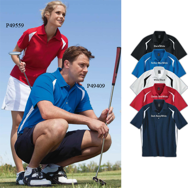 Custom Page & Tuttle Men's Cool Swing (R) Color Block Polo