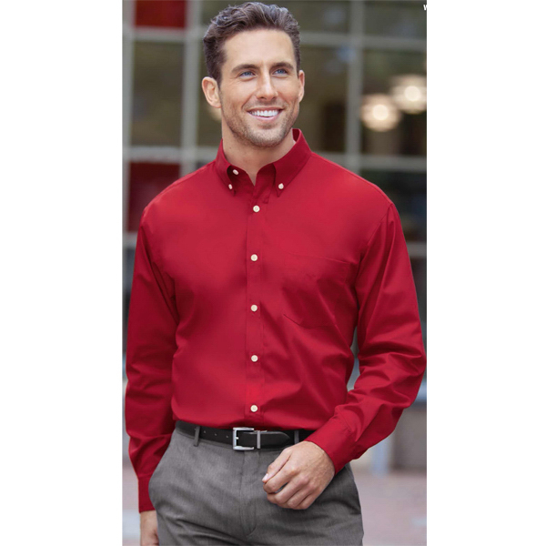 Promotional Men's Long Sleeve Easy Care Woven Twill Shirt