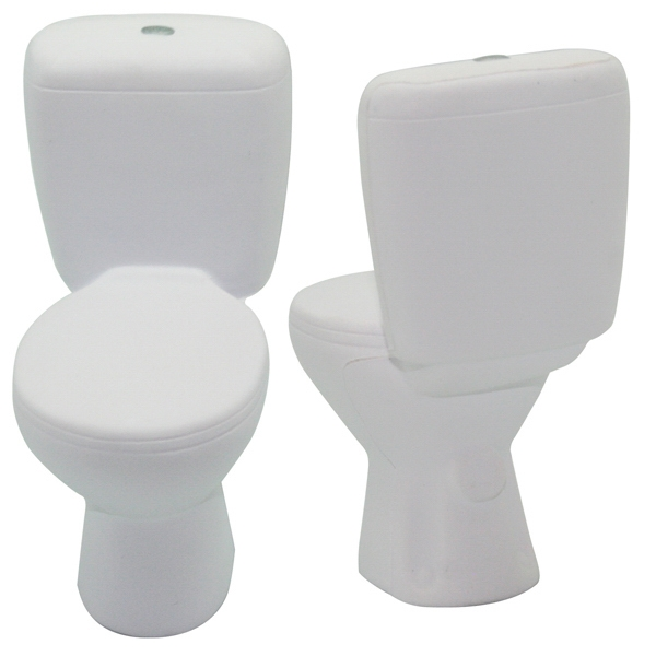 Imprinted Squeezies (R) Toilet stress reliever
