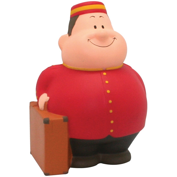 Personalized Squeezies (R) Bellhop Bert (TM) stress reliever