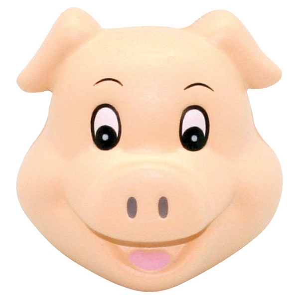 Promotional Squeezies (R) Cute Pig Head stress reliever