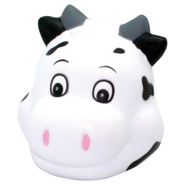 Customized Squeezies (R) Cute Cow Head stress reliever