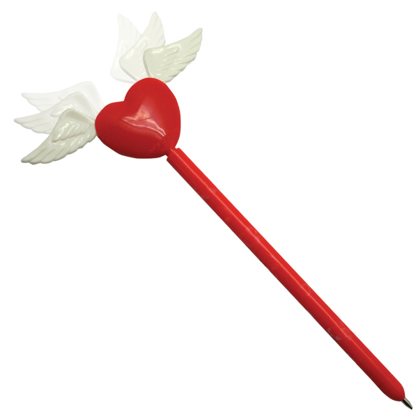 Personalized Happy Motion Winged Heart Pen