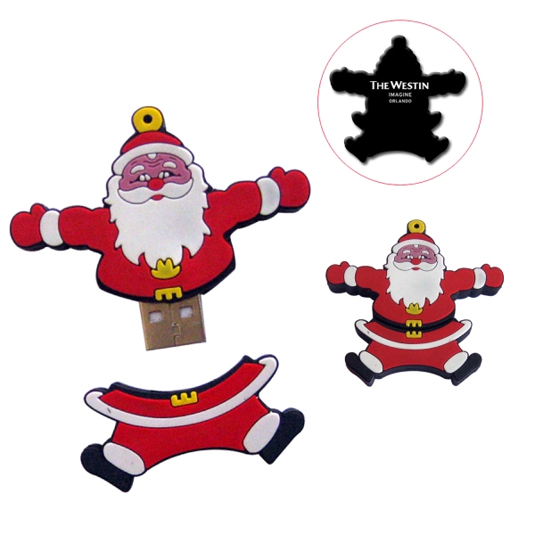 Customized Santa USB Drive 2