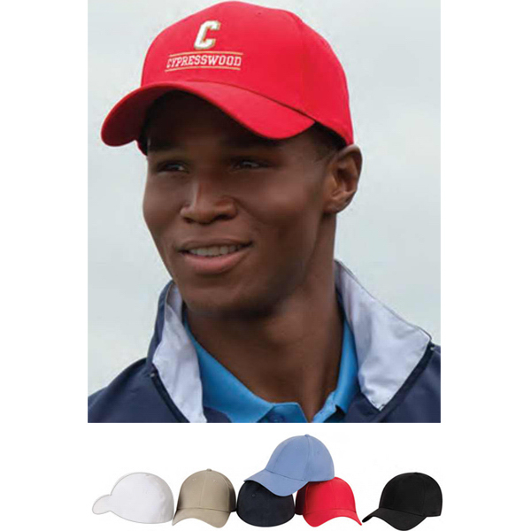 Custom Solid Stretch Fitted Constructed Twill Cap