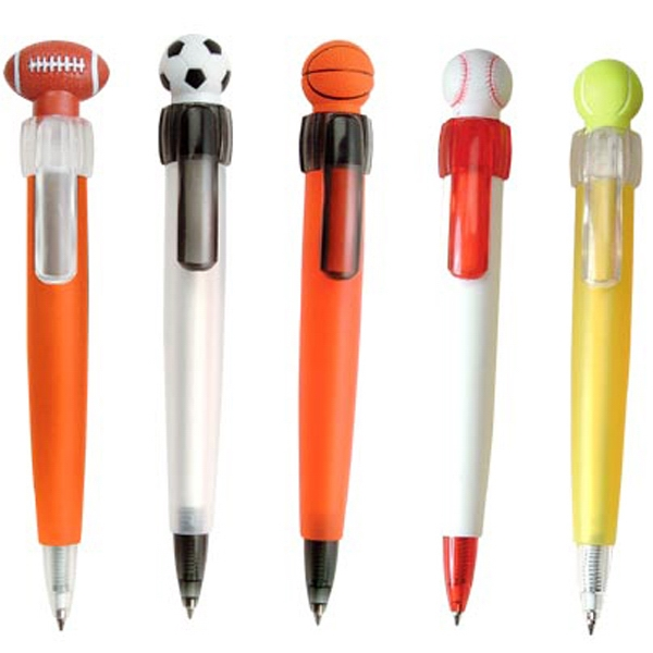 Printed Soft Sports Ball Pen