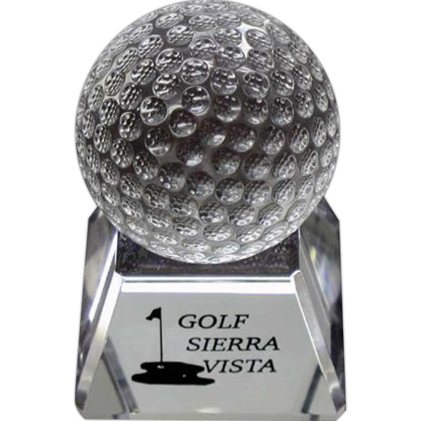Printed Crystal Golf Ball Tournament Award