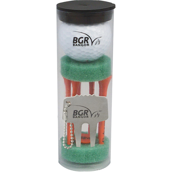 Imprinted Golf ball tube pack