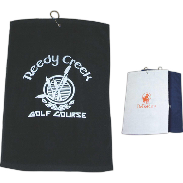 "Customized Golf Towel 16"" x 24"" Hemmed"