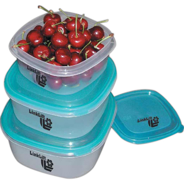 Personalized 3 Piece Storage Container Square Bowl Set