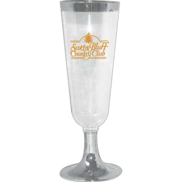 Personalized 2 Pc. Clear Plastic Champagne Glass