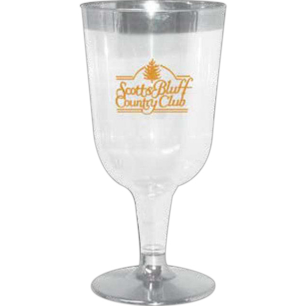 Customized 2 Pc. Clear Plastic Wine Glass