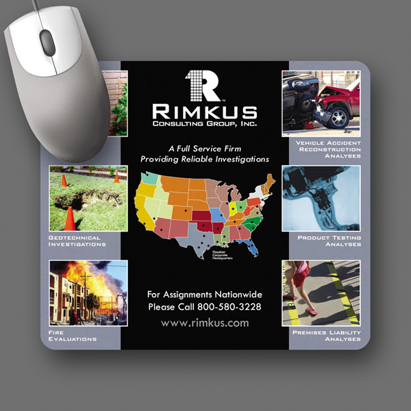 "Personalized SoftTouch® 7""x8""x1/8"" Antimicrobial Mouse Pad"
