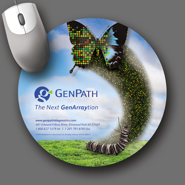 "Customized SoftTouch® 8""Roundx1/8"" Antimicrobial Mouse Pad"