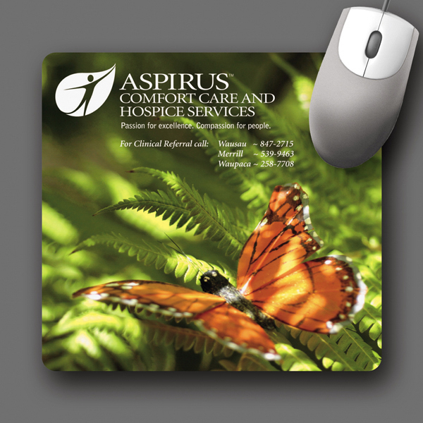 "Printed SoftTouch® 7.5""x8""x1/16"" Antimicrobial Mouse Pad"
