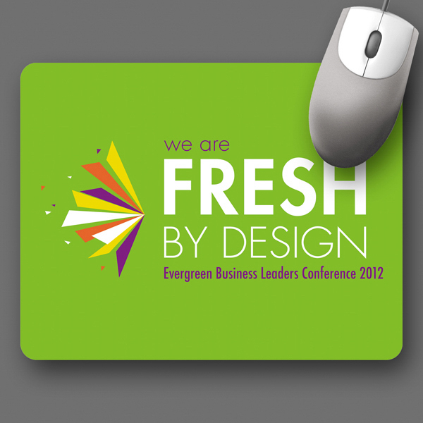"Promotional SoftTouch® 7""x9""x1/16"" Antimicrobial Mouse Pad"