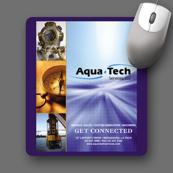 "Customized SoftTouch® 7""x8""x1/16"" Antimicrobial Mouse Pad"