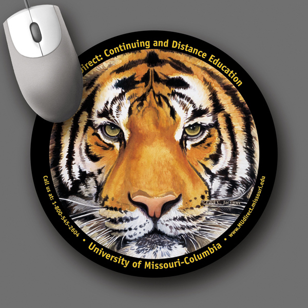 "Customized SoftTouch® 8""Roundx1/16"" Antimicrobial Mouse Pad"