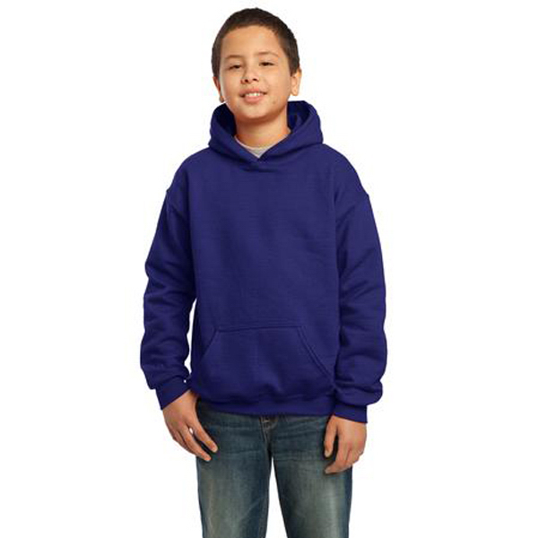 Imprinted Gildan® youth Heavy Blend (TM) hooded sweatshirt