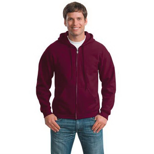 Imprinted Gildan® Heavy Blend (TM) full-zip hooded sweatshirt