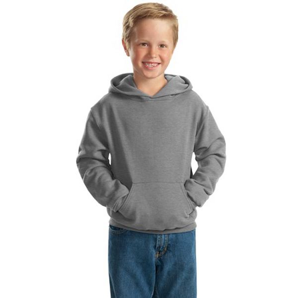 Imprinted Jerzees® youth pullover hooded sweatshirt