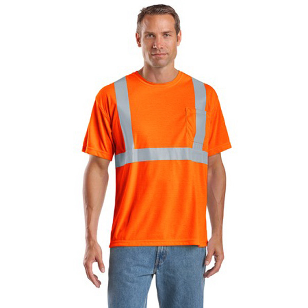 Imprinted Cornerstone® ANSI class 2 safety t-shirt