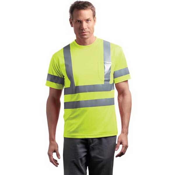 Imprinted Cornerstone® ANSI class 3 short sleeve reflective t-shirt