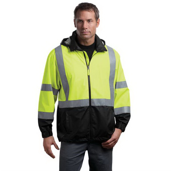 Custom Cornerstone® ANSI class 3 safety water resistant windbreaker