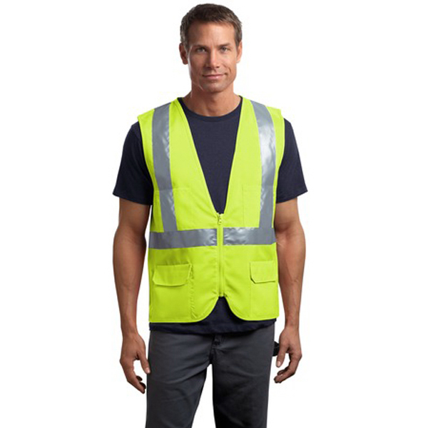 Imprinted Cornerstone® ANSI class 2 mesh back safety vest
