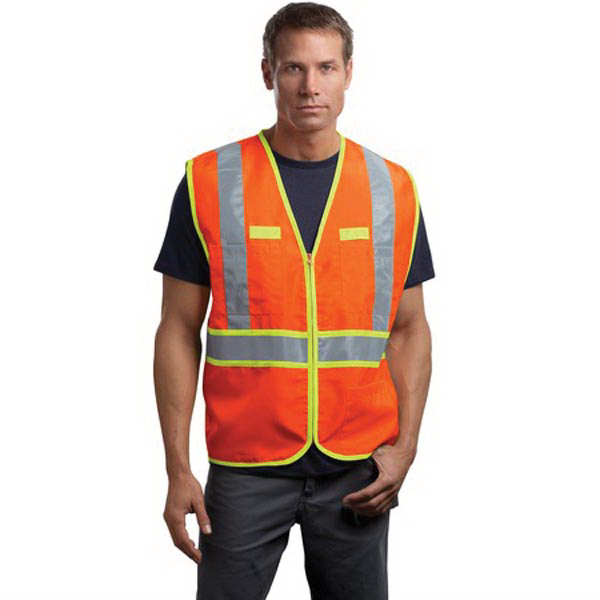 Customized Cornerstone® ANSI class 2 dual-color safety vest