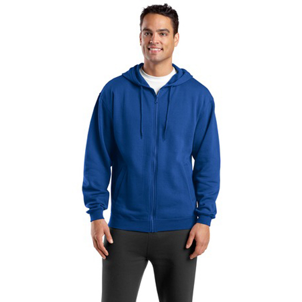 Customized Sport-Tek® full-zip hooded sweatshirt