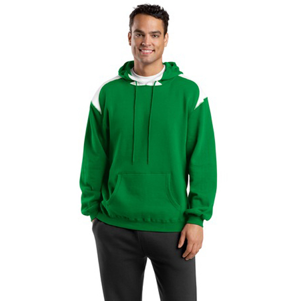 Customized Sport-Tek® hooded sweatshirt, contrast color